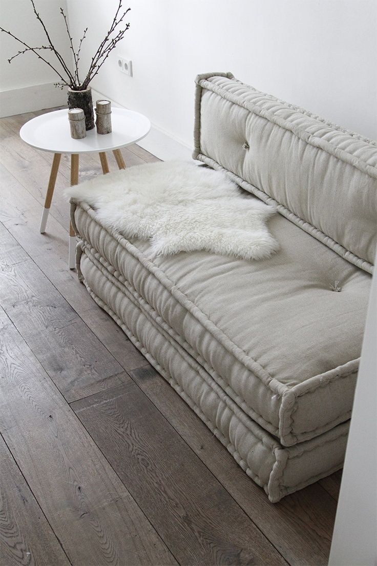 5 Cozy Guest Bed Ideas For Small Spaces: DIY A Double Duty Sofa. I Love  This Sofa   So Easy To DIY. All You Need Are Two Foam Twin Beds To Make