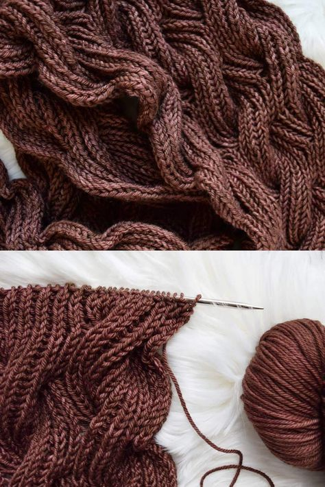 The Rosewood Scarf is a reversible cabled scarf (yes, I ...