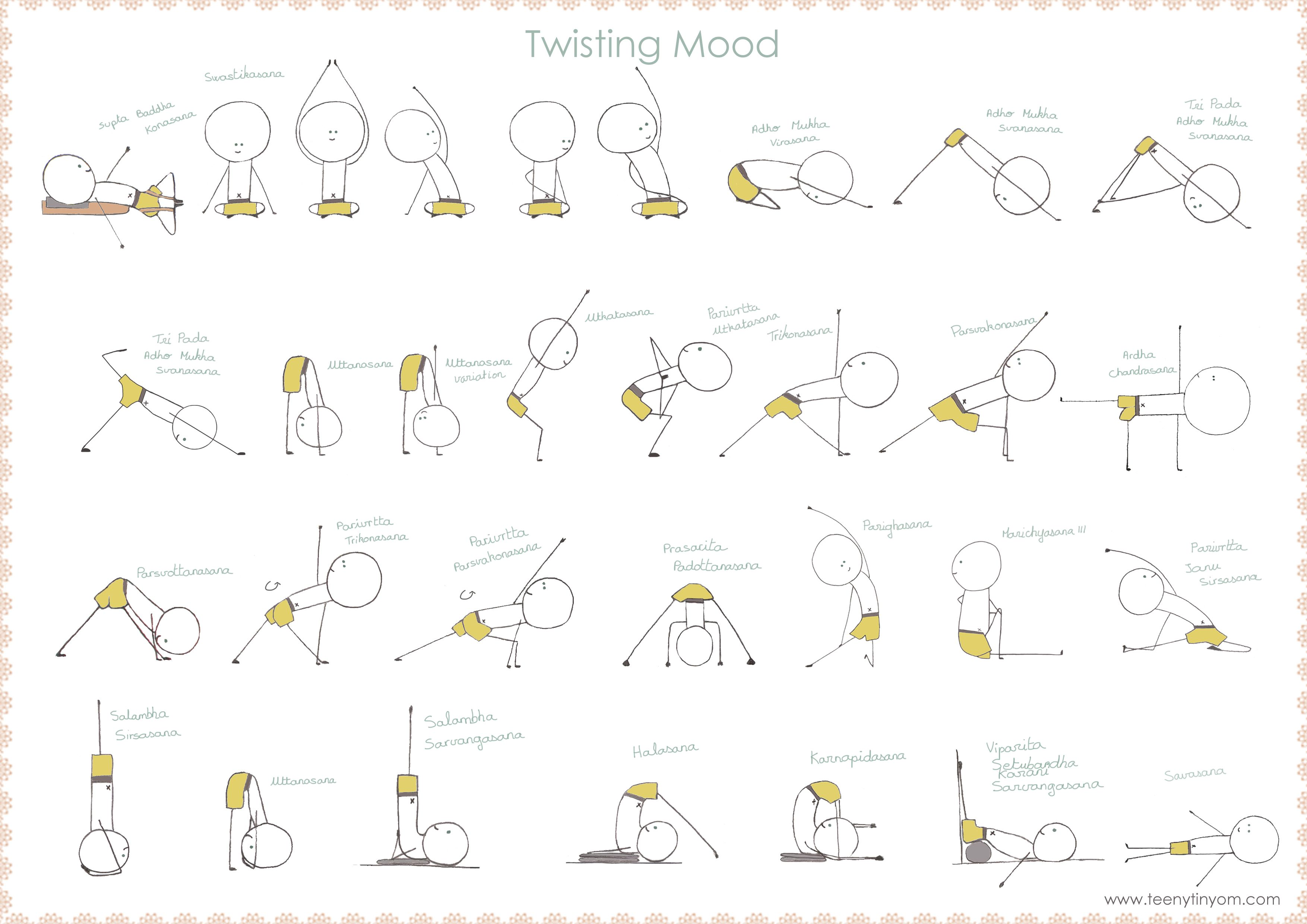 Yoga Sequence With Twists