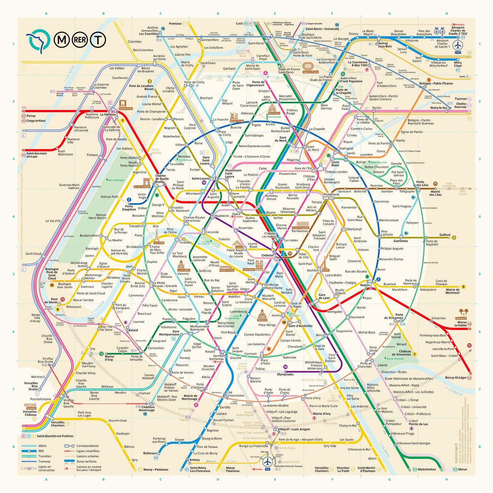 The New Paris Metro Map France Paris Map Paris Metro Subway Map