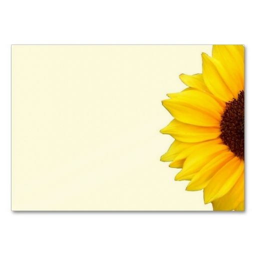 a sunny sunflower business cards this is a fully customizable business card and available on