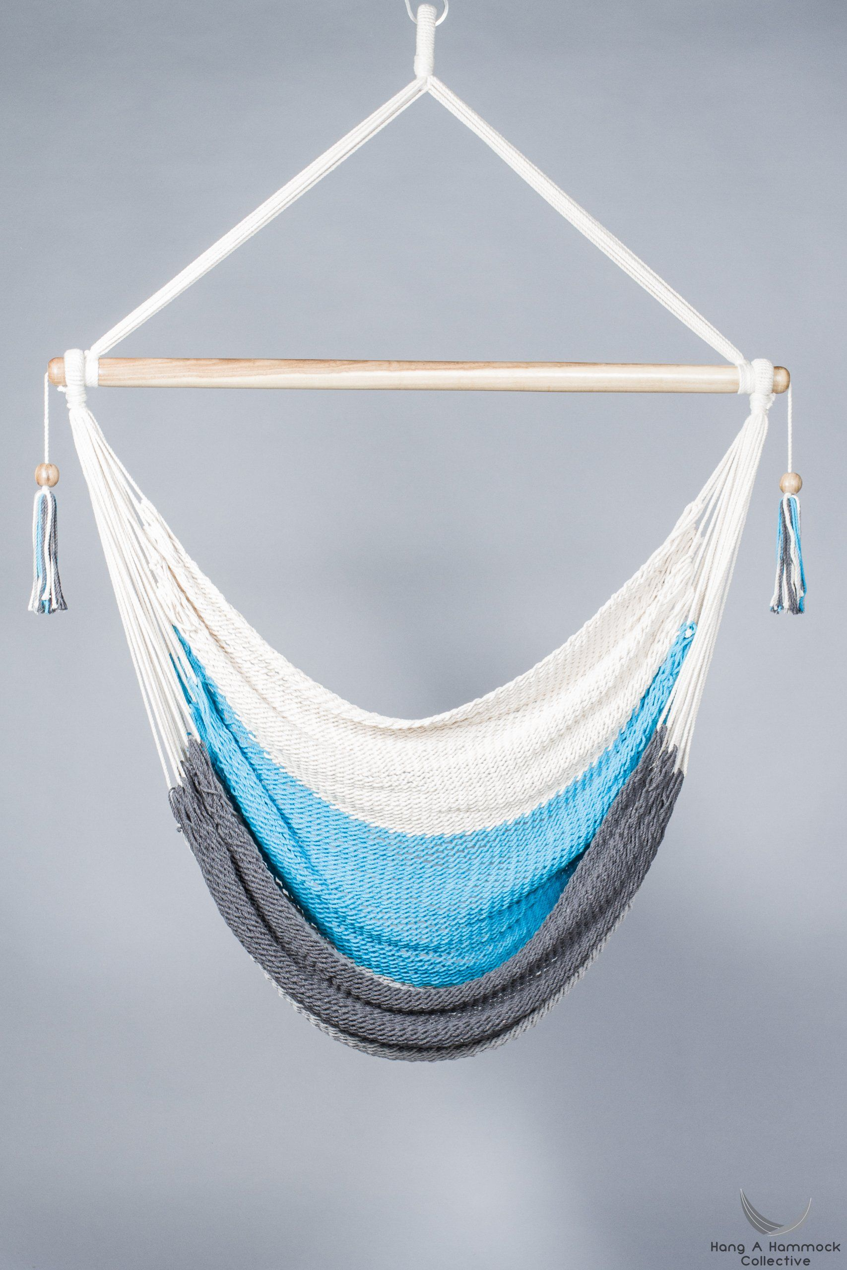 Hammock Chair In Cream Turquoise And Grey With Images Hammock