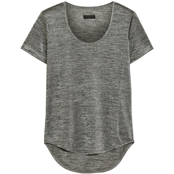 Rag & bone Slinky stretch-jersey T-shirt ($75) ❤ liked on Polyvore featuring tops, t-shirts, grey, transparent t shirt, jersey tee, gray tees, see through tops and grey shirt