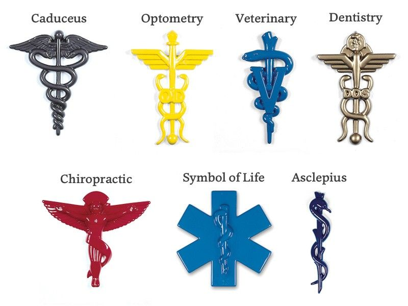 Formed Plastic Symbols - Medical Symbols