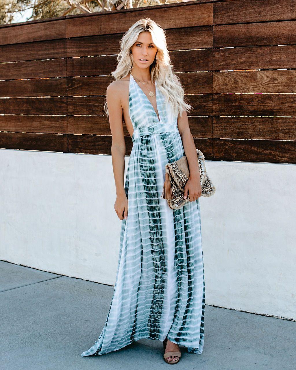 Clover Tie Dye Halter Maxi Dress Vici Maxi Dress Halter Maxi Dresses Halter Maxi [ 1280 x 1024 Pixel ]