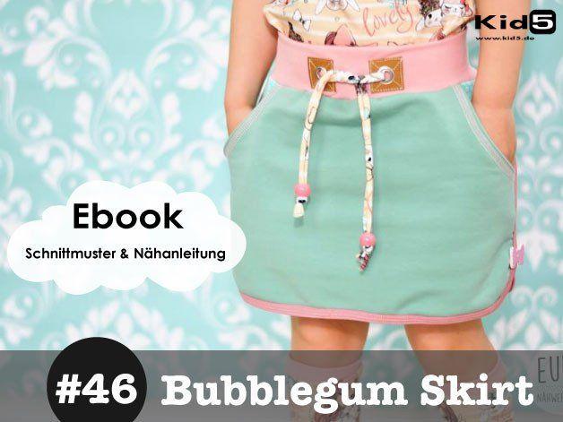 ☆ eBook MINI-ROCK 11 Größen | Kaugummi, Minirock und Rosa