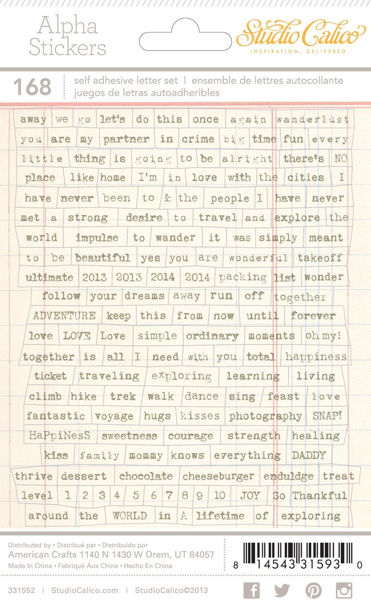 Scrapbook ideas words - Wanderlust Tiny Word Stickers At Studio_calico