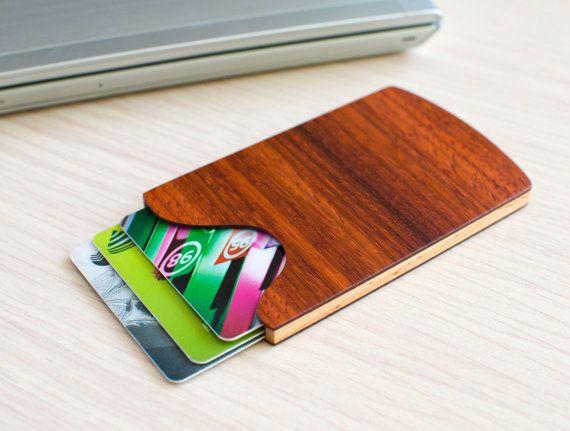 handmade wooden business card holder padauknologodesigns