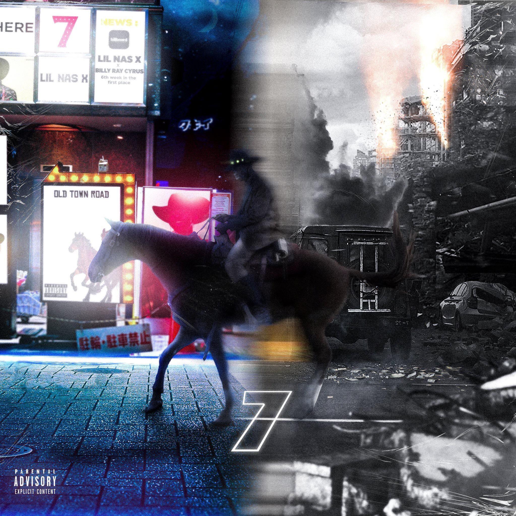 Lil nas x 7 with images artist names r vinyl album art