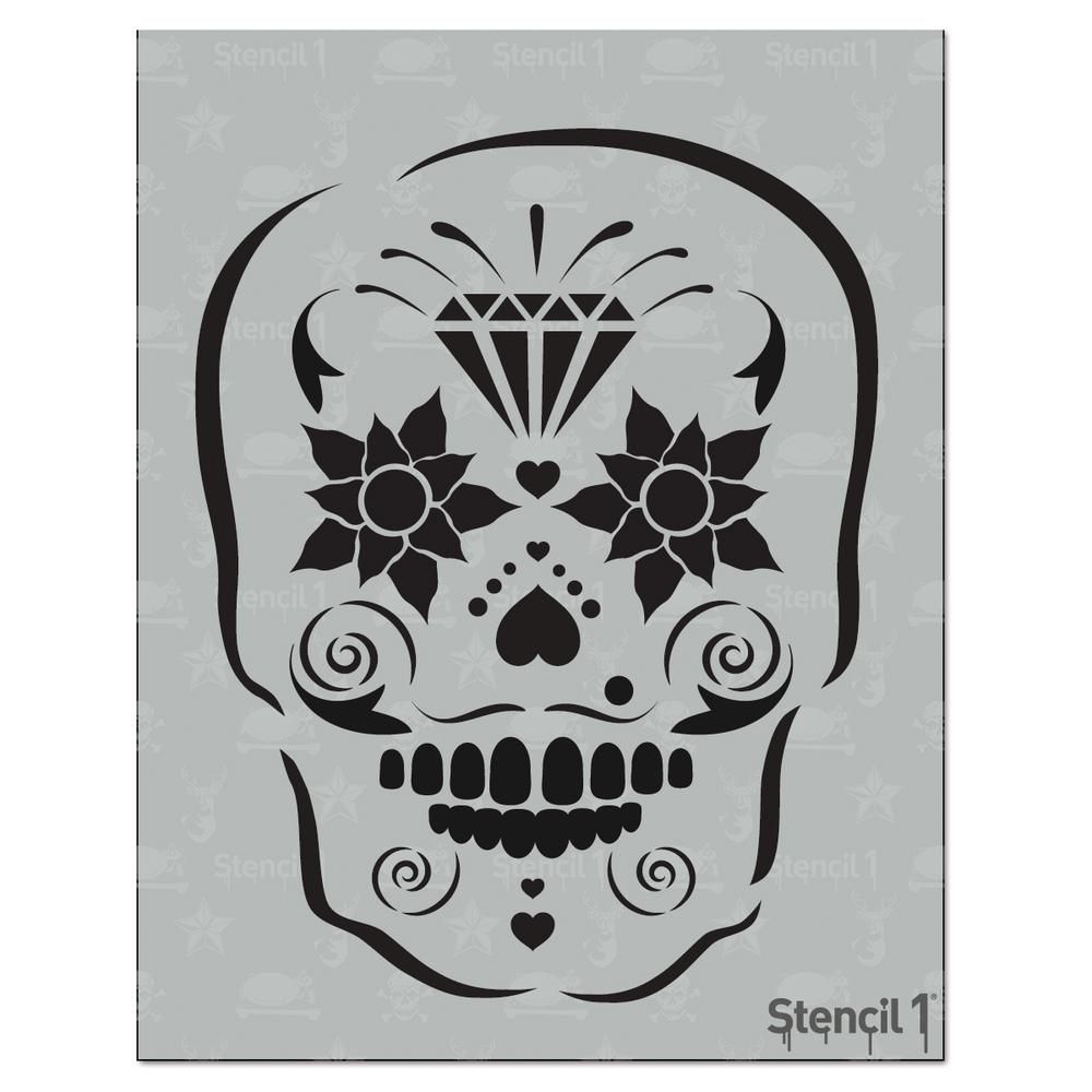 Stencil1 Sugar Skull Stencil | Sugar skull stencil and Products