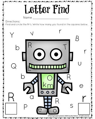 Cute Letter Find Worksheets with a Freebie | Work | Pinterest ...
