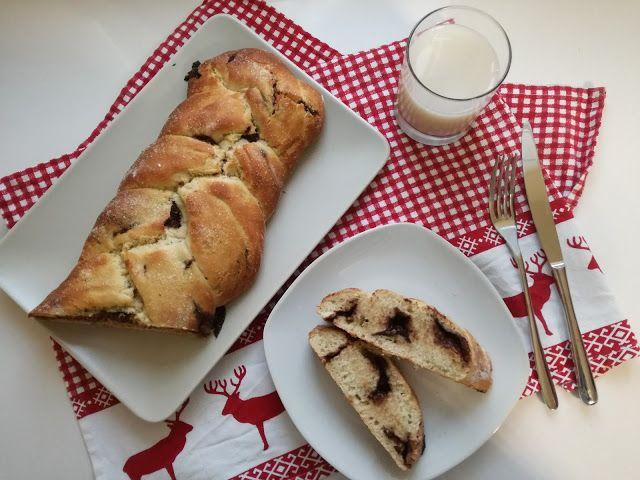 MonnElisa: Treccia al latte di cocco e cioccolato fondente......