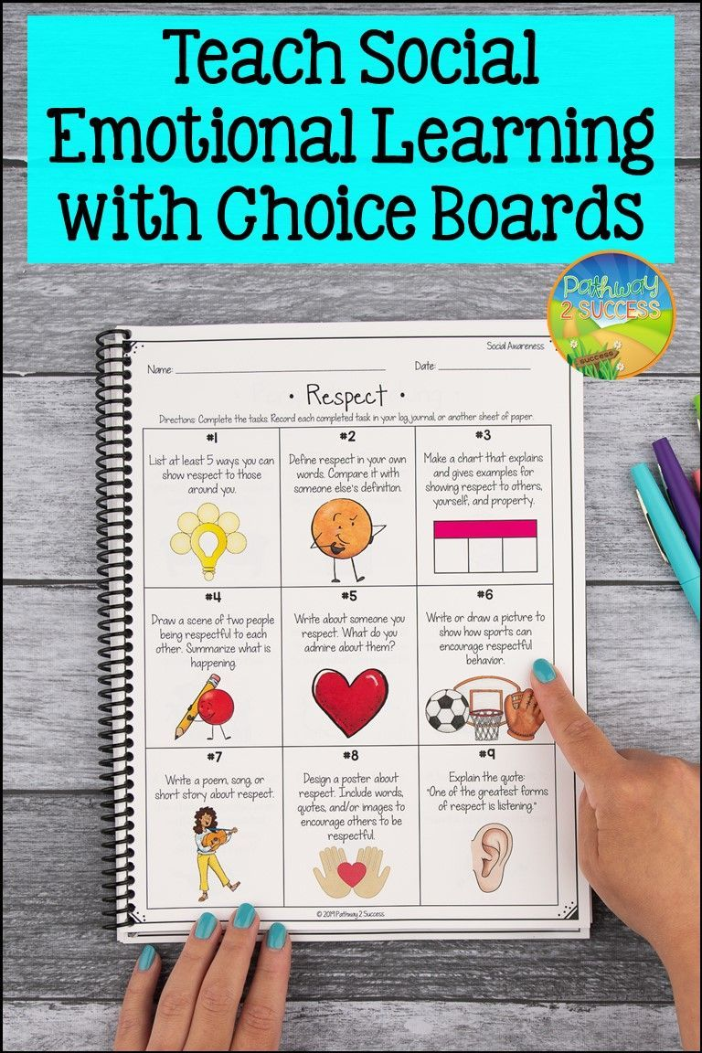 Social Emotional Learning Choice Boards Activities Digital Print Social Emotional Learning Activities Social Emotional Learning Social Emotional