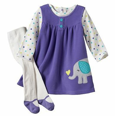 Carters Baby Girl Clothes 3 Piece Dress Set Purple 3 6 9 12 18 24 Months Ebay With Images Baby Girl Clothes Winter Carters Baby Girl Clothes Penguin Baby Clothes