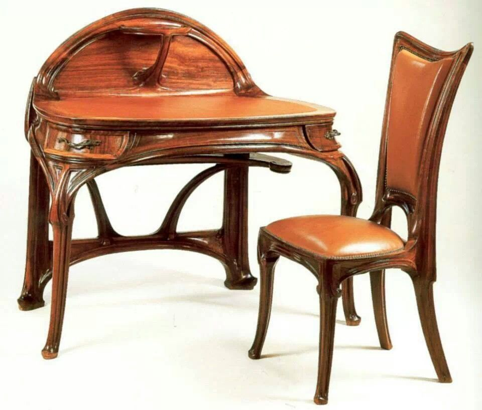 Nouveau desk | Ecole de Nancy | Pinterest | Art nouveau, Escritorios ...