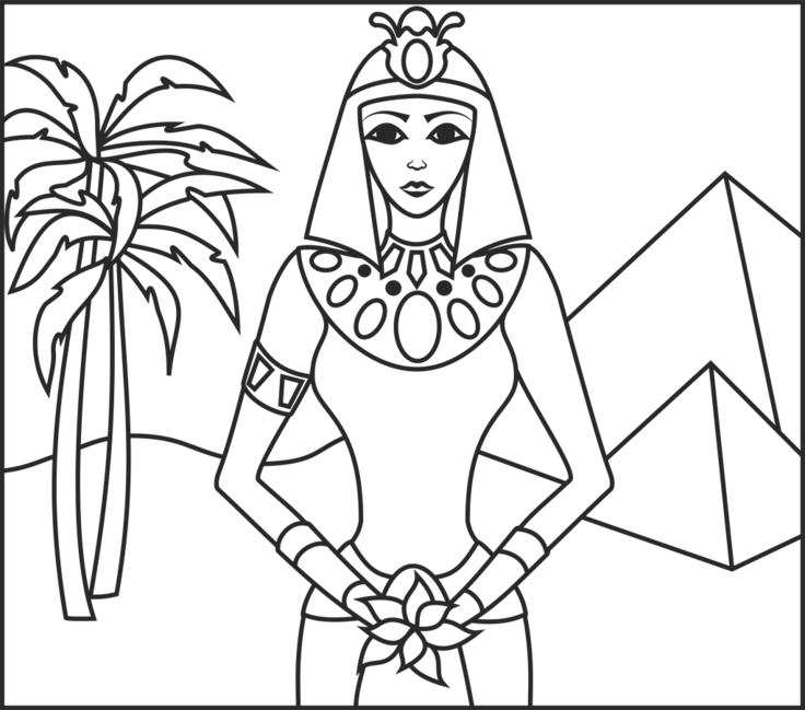 Princess Of Egypt Online Color By Number Game Coloring Pages