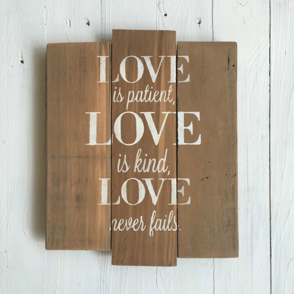 Basic love is patient sq white