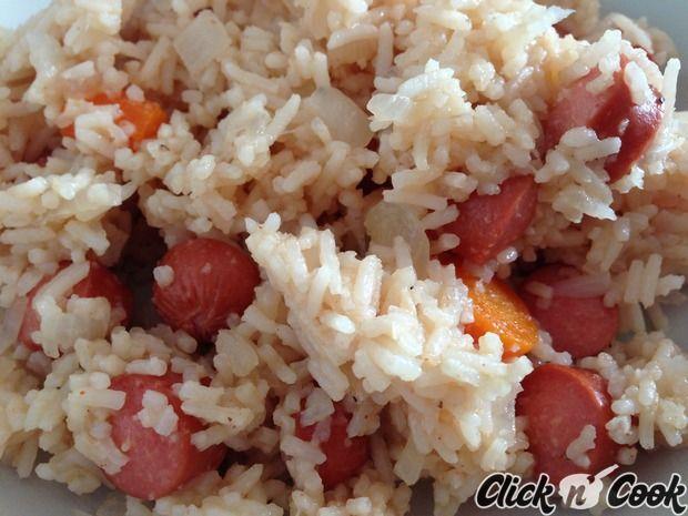 Riz pilaf aux saucisses knacki cookeo cuisine - Cuisiner des saucisses fumees ...