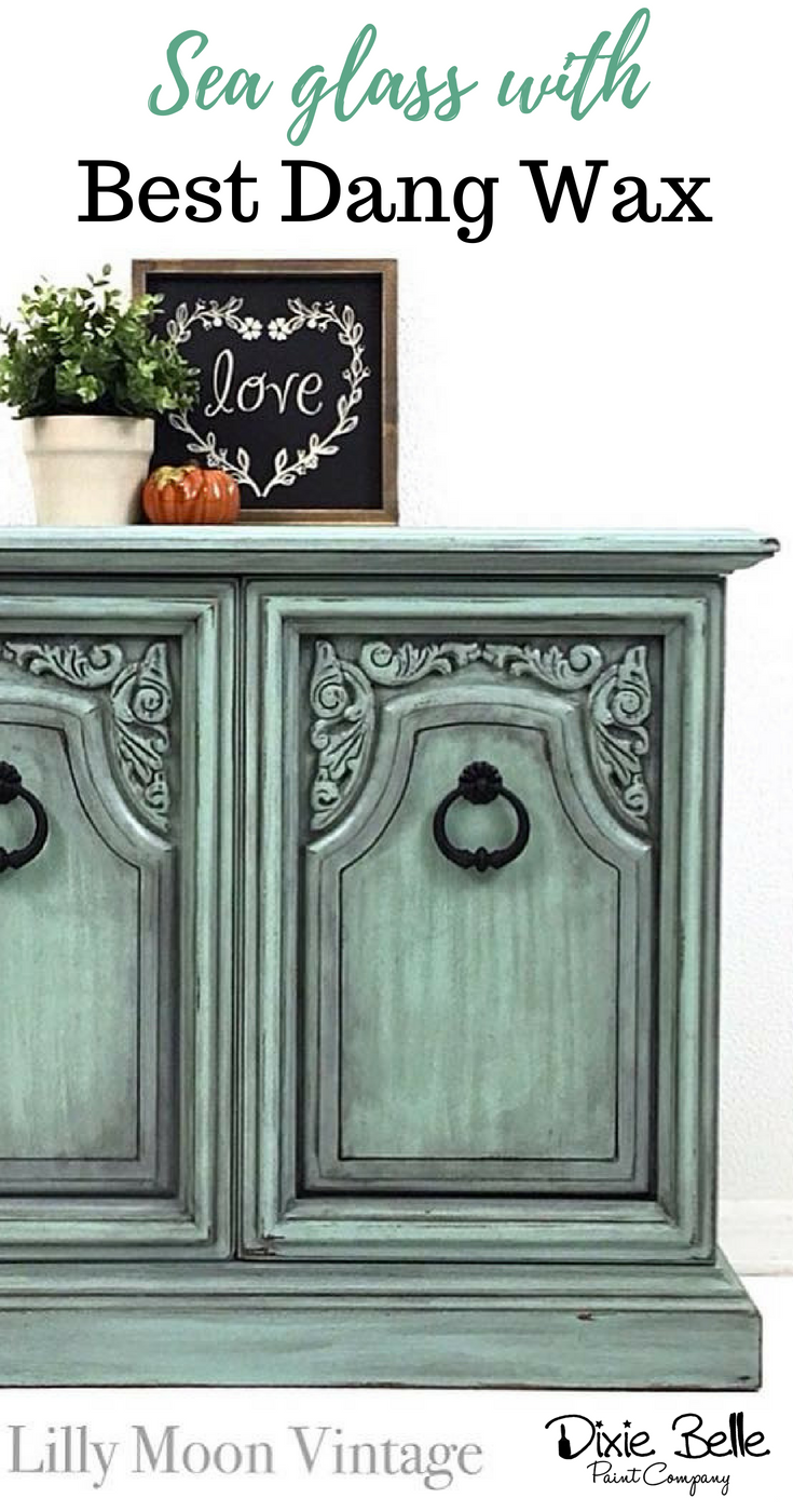 This Lovely Piece Was Painted With Dixie Belle Paint In Sea Glass And Best Dang Wax In Black Shop Green Painted Furniture Dixie Belle Paint Furniture Makeover