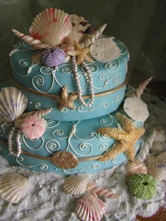 Love this beachy birthday cake My Wish List Pinterest