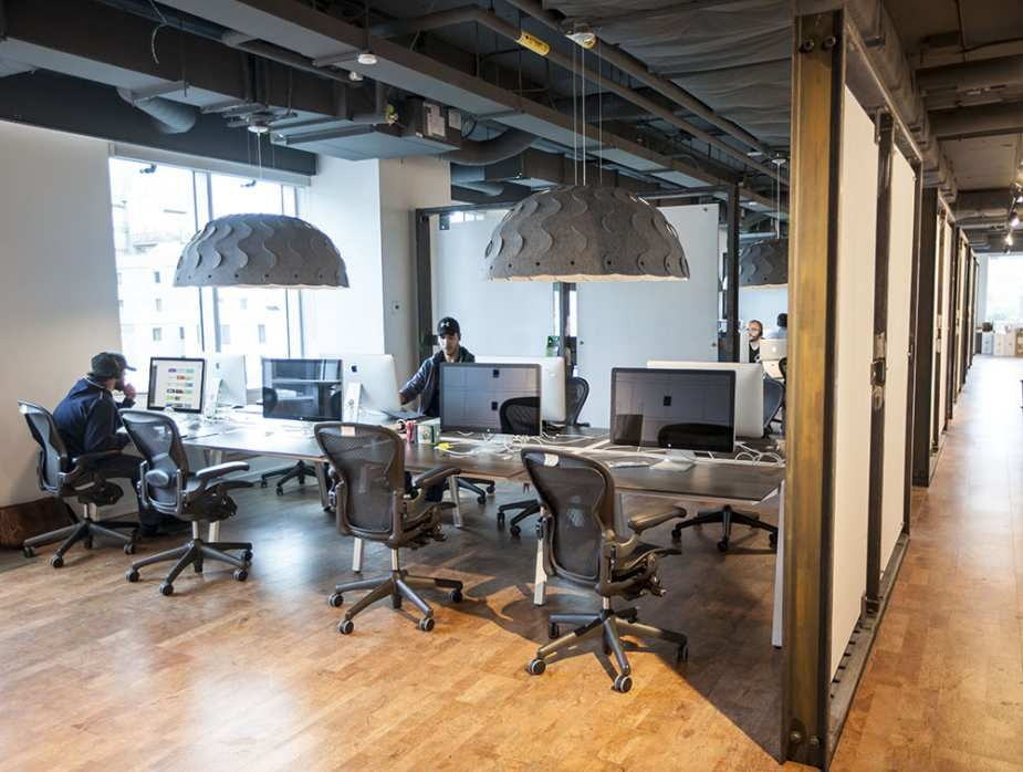 Glass And Natural Materials, Including Cork Flooring, Are Heavily Used In  The New Shopify Offices At 150 Elgin St. In Ottawa Friday, October (Darren  ...