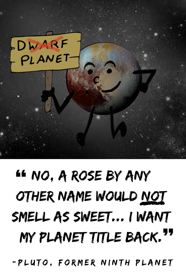 Funny Inspirational Cartoon Quote From Pluto The Former Ninth Planet From The Book The Pluto Diaries Confes Funny Cartoon Quotes Planets Quote Funny Quotes