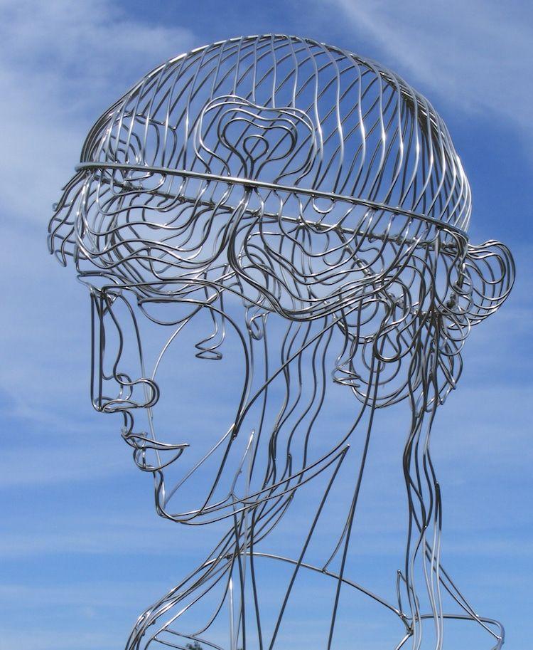 Figurative Steel Wire Sculptures Are Metal Masterpieces Merging ...
