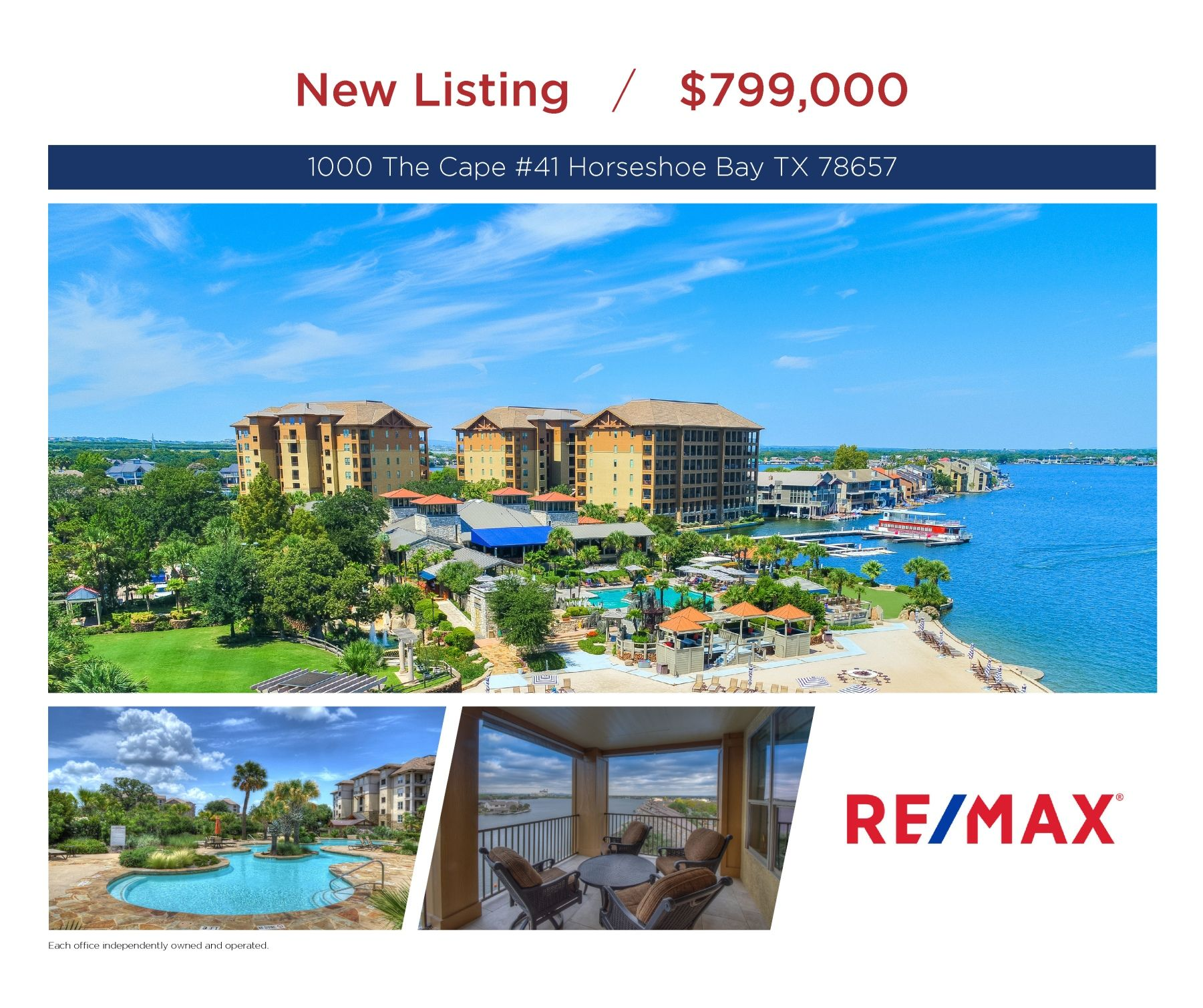 Have it all in the waters of horseshoe bay condo private