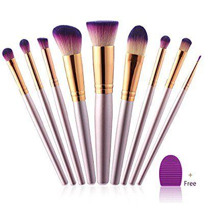 amazon makeup brush 9 pcs professional makeup brush