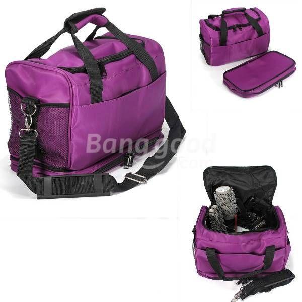Professional Barber Portable Purple Salon Hair Tools Bag Case