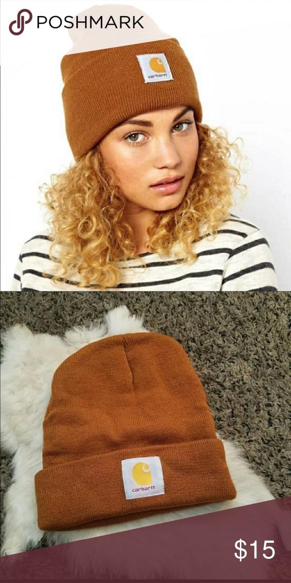 Asos carhartt beanie ASOS Carhartt Beanie NWOT super trendy camel color  Carhartt Accessories Hats 50e1076777a