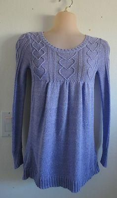 Size 10 Girls ~ *Limited Too - Lavendar Sparkly Sweater w/Hearts