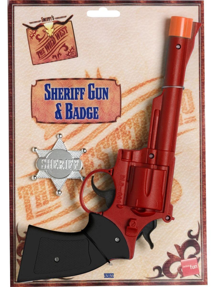 Seriffin pistooli ja virkamerkki.
