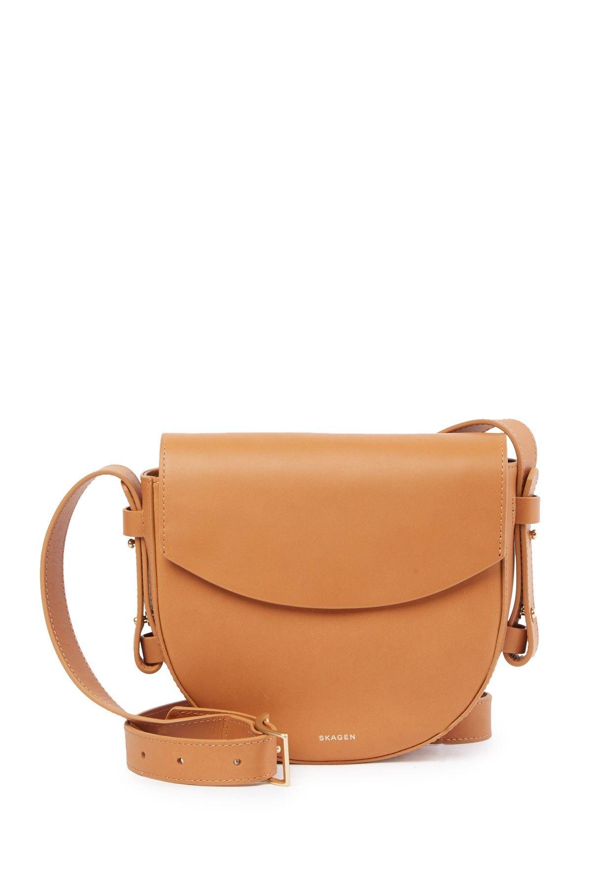 50ac628b65c5 Skagen   Lobelle Leather Saddle Crossbody Bag   deals and steals ...