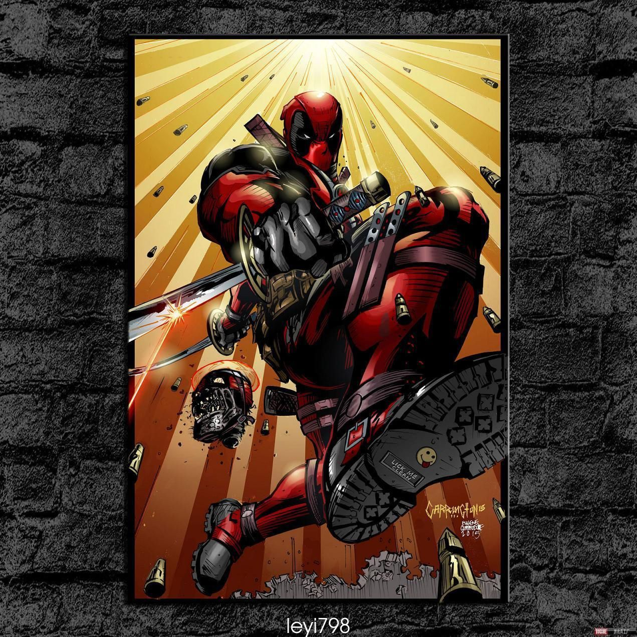 Hd picture canvas printing wall decor art deadpool xin products