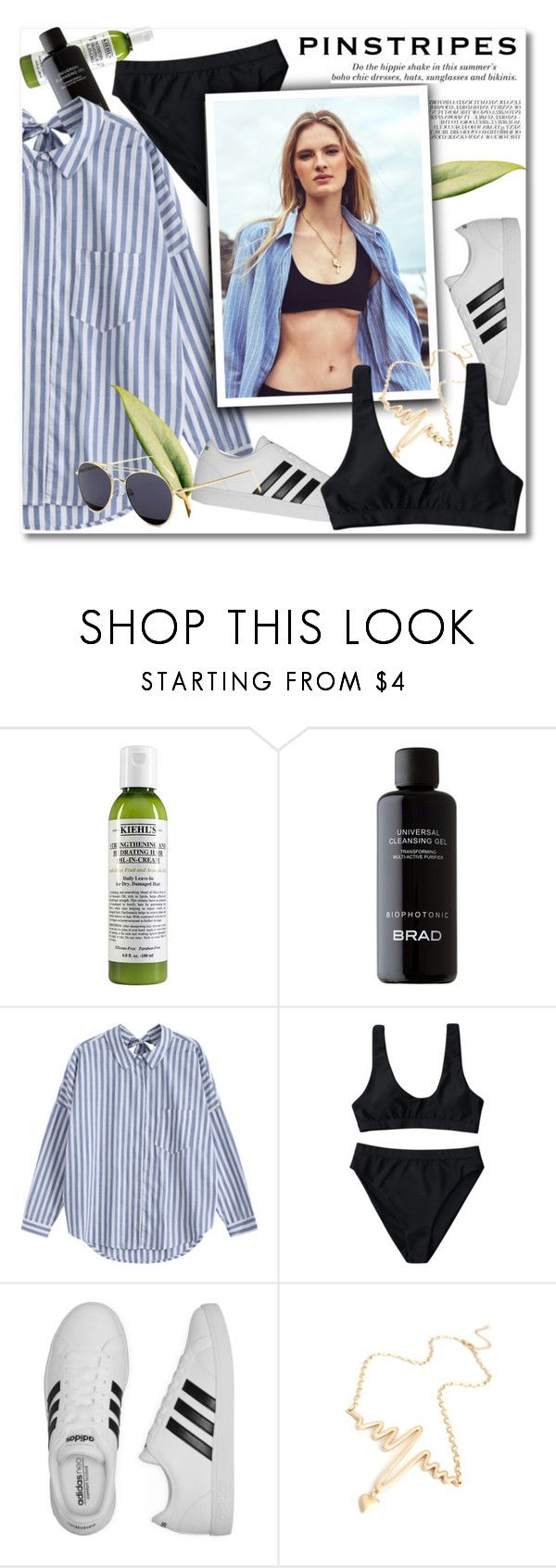 """black bikini"" by paculi ❤ liked on Polyvore featuring Kiehl's, adidas, H&M and happyhour"