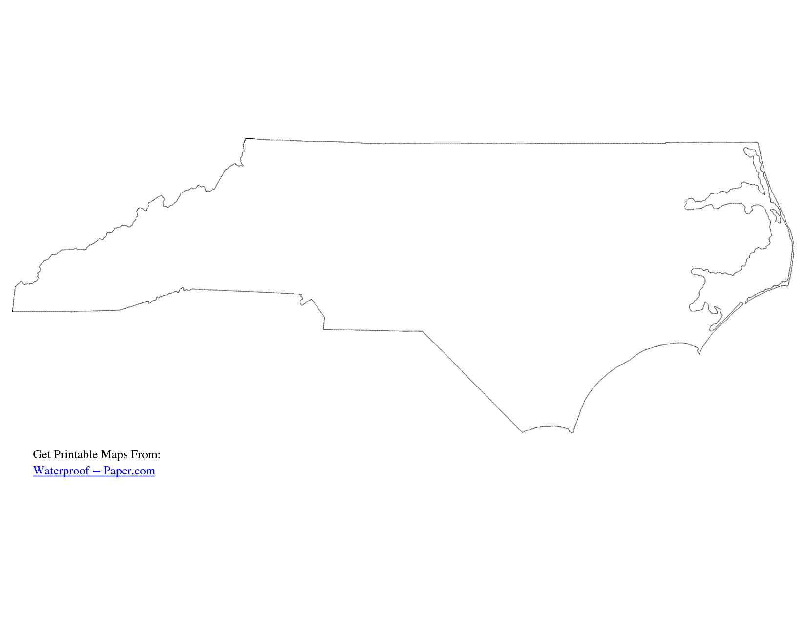 photograph relating to Printable Map of North Carolina known as North Carolina Map Determine Drawing North carolina