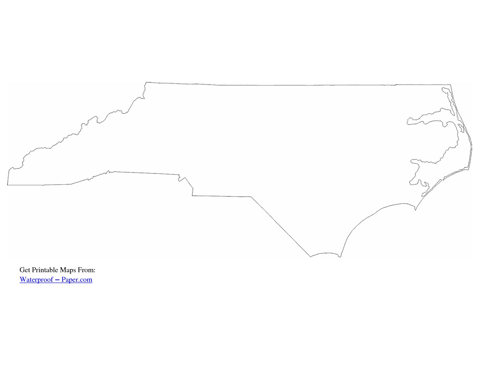 North Carolina Map Outline Drawing Pinterest
