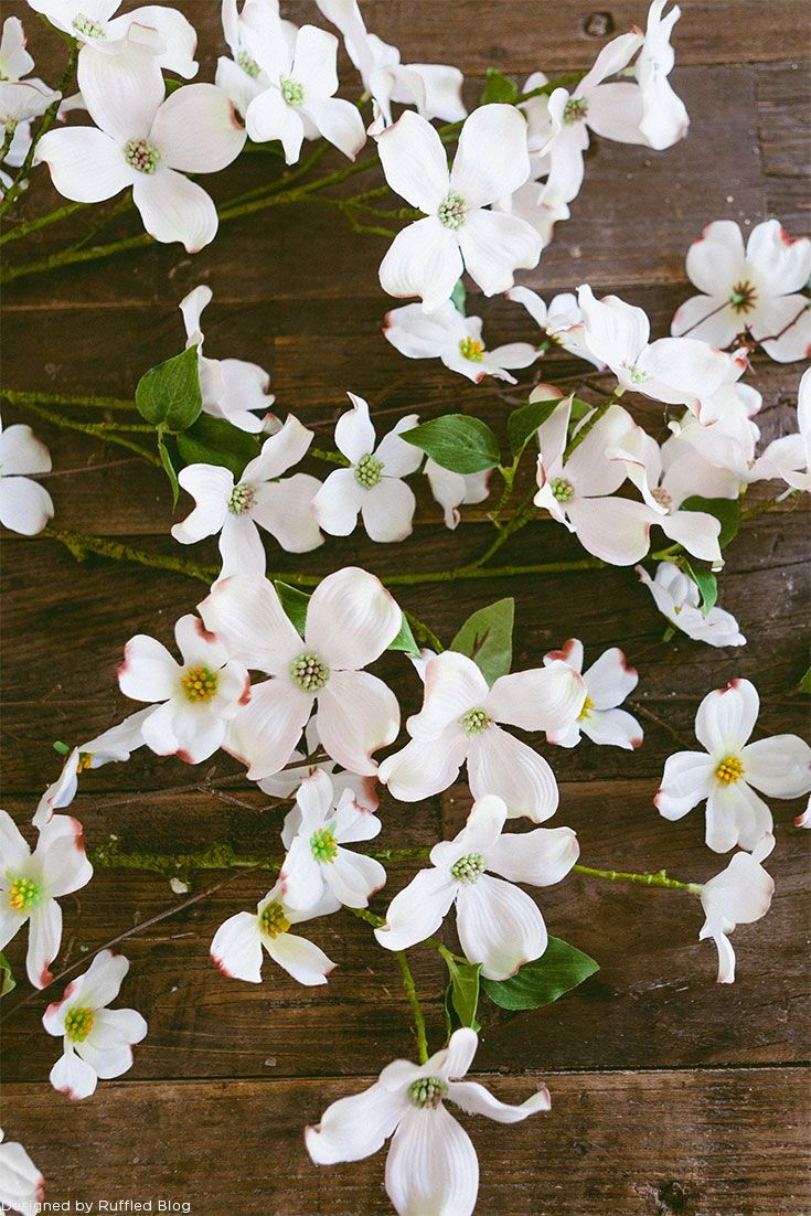 Silk Dogwood Blooms From Afloral White Wedding Pinterest