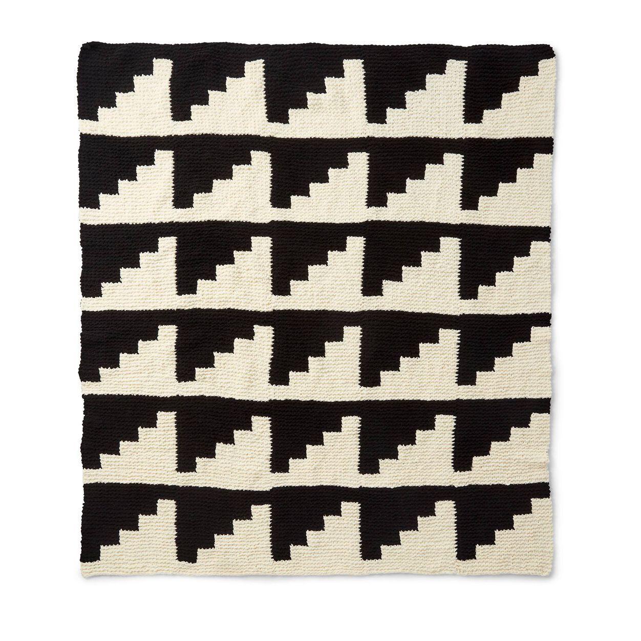 Bernat Geometric Knit Blanket