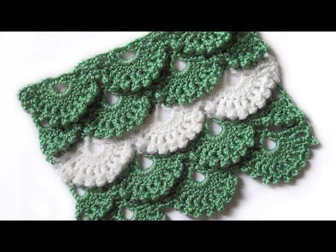 Узор Веерочки с пышными столбиками - Pattern Fans with Puff Stitch ...