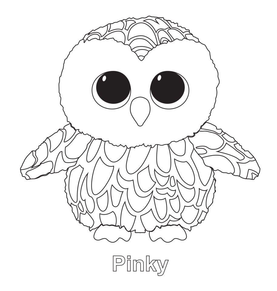Pinky the Owl TY Beanie Boo | Ty Beanie Boos | Pinterest | Ausmalen ...