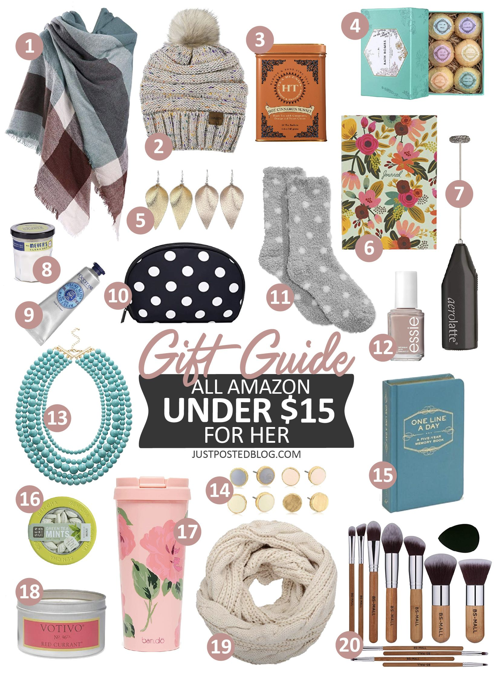 Amazon Stocking Stuffer Gift Guide for Her All under 15