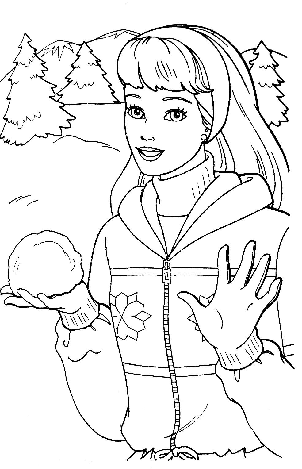 Pin by Tsvetelina on Barbie coloring part 2 Barbie