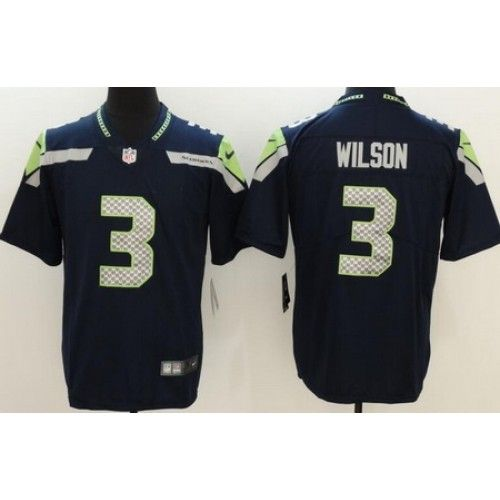 mens seattle seahawks 3 russell wilson limited navy vapor untouchable jersey