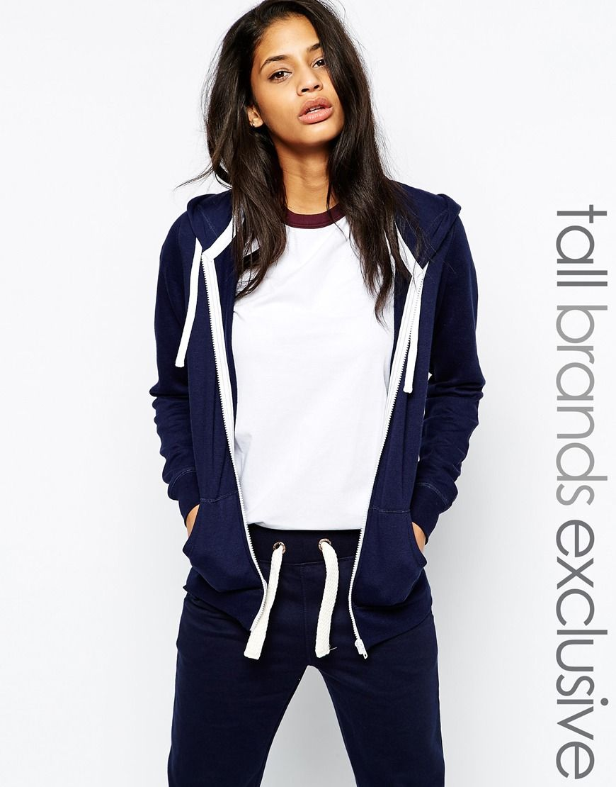 New Look Tall Zip Through Hoodie