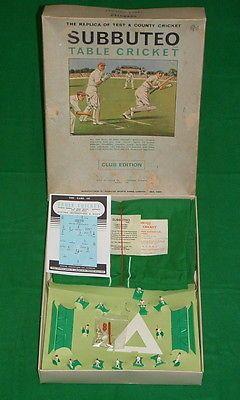 Vintage subbuteo club #edition #table #cricket test \u0026 county set 1971 View & Vintage subbuteo club #edition #table #cricket test \u0026 county set ...