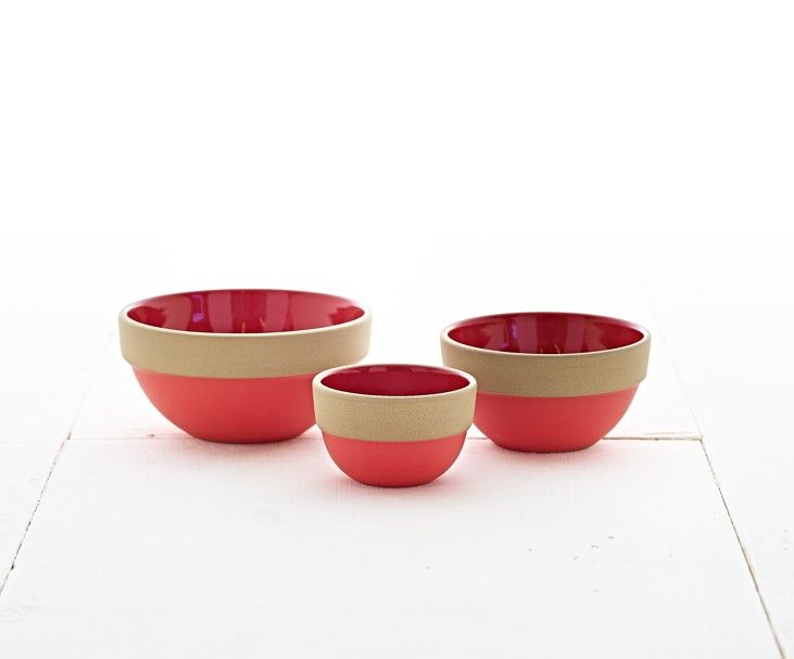 Nesting Bowl Set From Heath Ceramics In Their Seasonal Color, Ruby Red. Photo Gallery