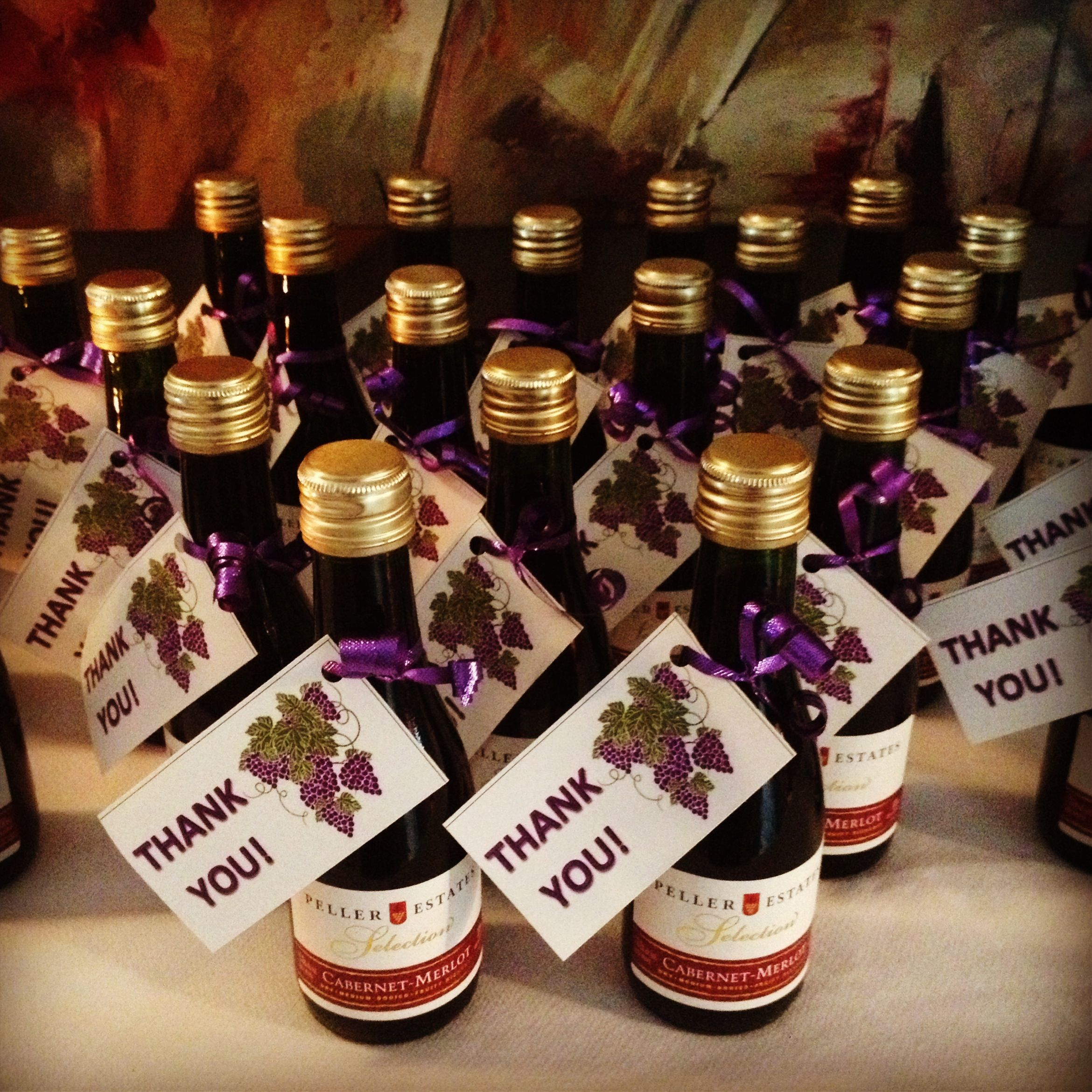 Wine and cheese themed bridal shower guest favors Events