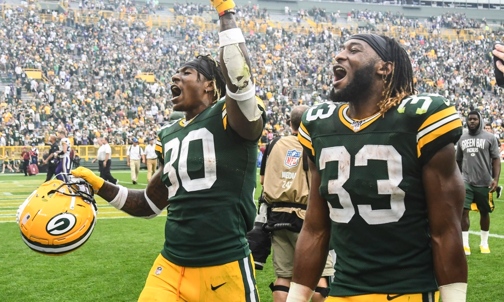 Rb Duo Jamaal Williams And Aaron Jones Nfl News Best Running Backs Packers